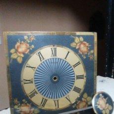 Recambios de relojes: CAJA CON PIANO DE SONIDO ESFERA, PESAS, PÉNDULO. Lote 150156446