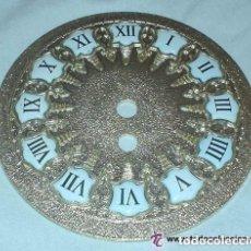 Recambios de relojes: ESFERA MÉTALICA DE 11.5CM CON NÚMEROS ESMALTADOS. AÑOS 70. FABRICADOS POR VIELA. ESPAÑA. Lote 150160830