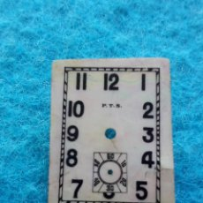Recambios de relojes: ESFERA NACARADA ANTIGUA PARA RELOJ. MARCA P.T.S.. Lote 150264762