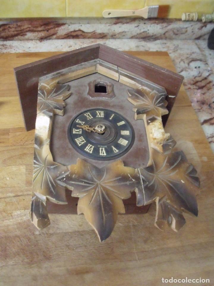 Recambios de relojes: antiguo reloj cuco para restaurar o piezas- lote 163 - Foto 2 - 150813750