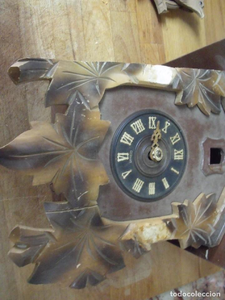 Recambios de relojes: antiguo reloj cuco para restaurar o piezas- lote 163 - Foto 3 - 150813750