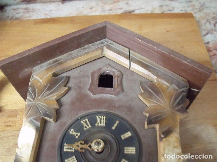Recambios de relojes: antiguo reloj cuco para restaurar o piezas- lote 163 - Foto 4 - 150813750