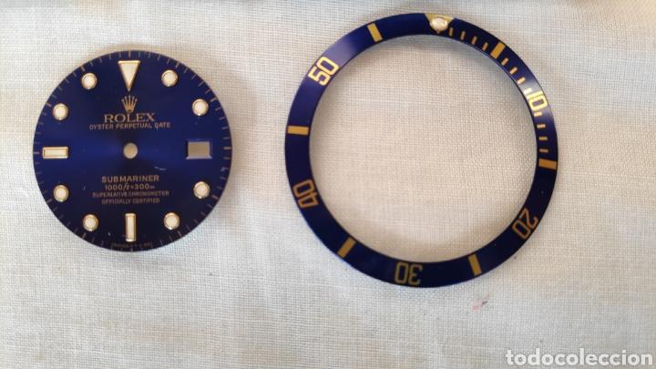 ESFERA Y BISEL ROLEX SUBMARINER ORIGINAL 16618 (Relojes - Recambios)