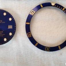Recambios de relojes: ESFERA Y BISEL ROLEX SUBMARINER ORIGINAL 16618. Lote 150976114