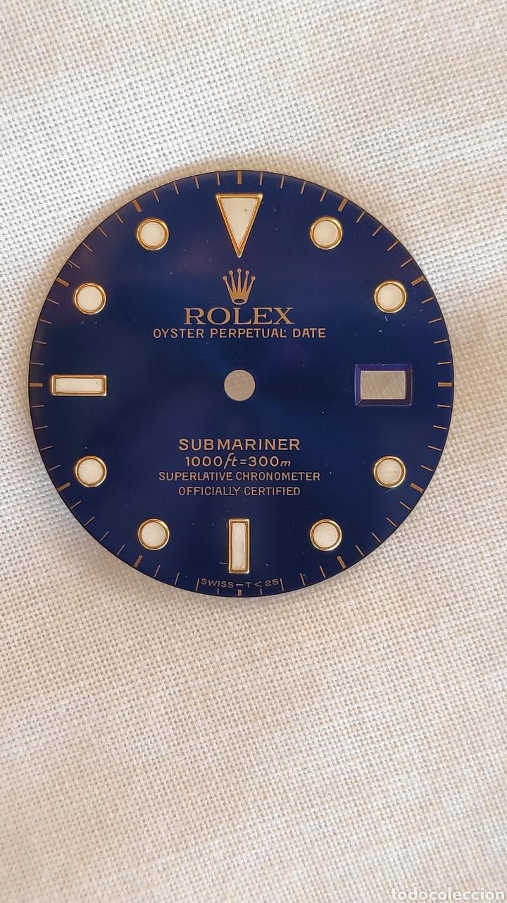 Recambios de relojes: ESFERA Y BISEL ROLEX SUBMARINER ORIGINAL 16618 - Foto 3 - 150976114