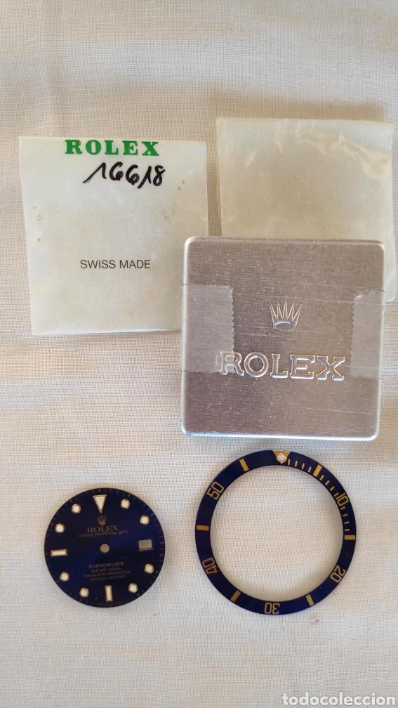 Recambios de relojes: ESFERA Y BISEL ROLEX SUBMARINER ORIGINAL 16618 - Foto 5 - 150976114