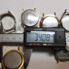 Recambios de relojes: CAJAS DE RELOJ ANTIGUAS DE CABALLERO LOTE 6. Lote 151158396