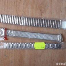 Recambios de relojes: LOTE ARMIS METALICOS CORREAS ELASTICOS NUEVOS DE TRASTIENDA.20 MM-20MM -12 MM.. Lote 151707310