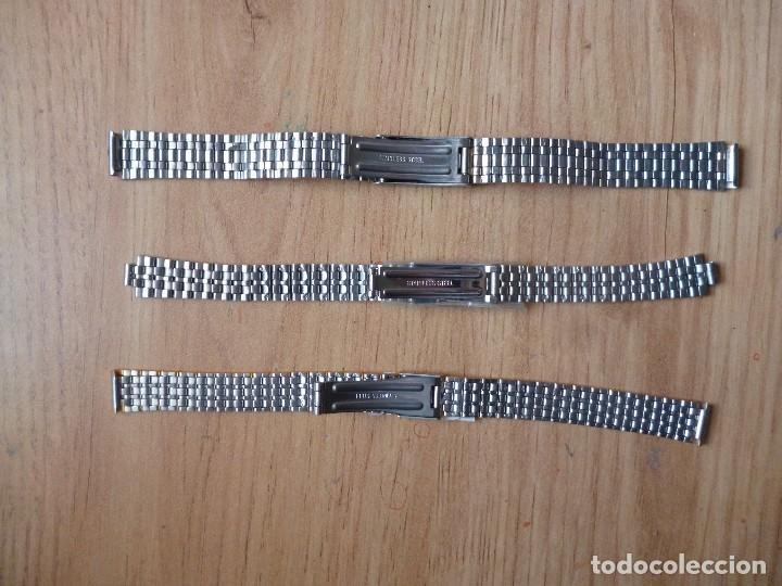 Recambios de relojes: Lote armis metalicos correas uno de casio nuevos de trastienda. -12 mm. - Foto 2 - 151708158