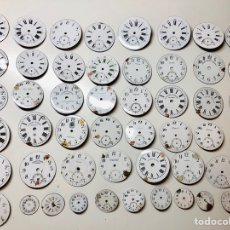 Recambios de relojes: LOTE ESFERAS ESMALTADAS ANTIGUOS RELOJES ROSKOPF,LONGINES,ENIGMA,META..... Lote 152040061