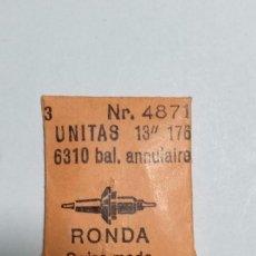Recambios de relojes: 2 EJES DE VOLANTE UNITAS 176 , 6310. Lote 152041510