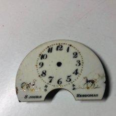 Recambios de relojes: ESFERA CON IMAGEN DE PERRITOS RELOJ HEBDOMAS. Lote 152041564