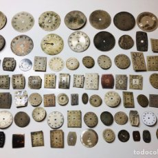 Recambios de relojes: LOTE ESFERAS ANTIGUOS RELOJES OMEGA,CYMA,COMET,EMIR..... Lote 152042165