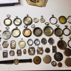 Recambios de relojes: LOTE CAJAS ANTIGUOS RELOJES. Lote 152042917