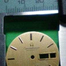 Recambios de relojes: OMEGA ESFERA - PARA CALENDARIO/DIETARIO - COLOR CAVA 3 FOTOS. Lote 152490002