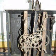 Recambios de relojes: ANTIQUISIMA MAQUINARIA MOREZ PESAS- AÑO 1860-LOTE 113- FUNCION DESPERTADOR. Lote 153082390