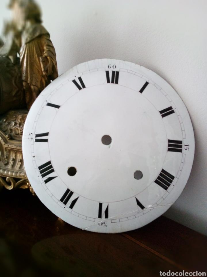 MOREZ: MUY ANTIGUA ESFERA DE RELOJ DE PESAS (Relojes - Recambios)