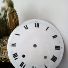 Recambios de relojes: MOREZ: MUY ANTIGUA ESFERA DE RELOJ DE PESAS. Lote 153444390