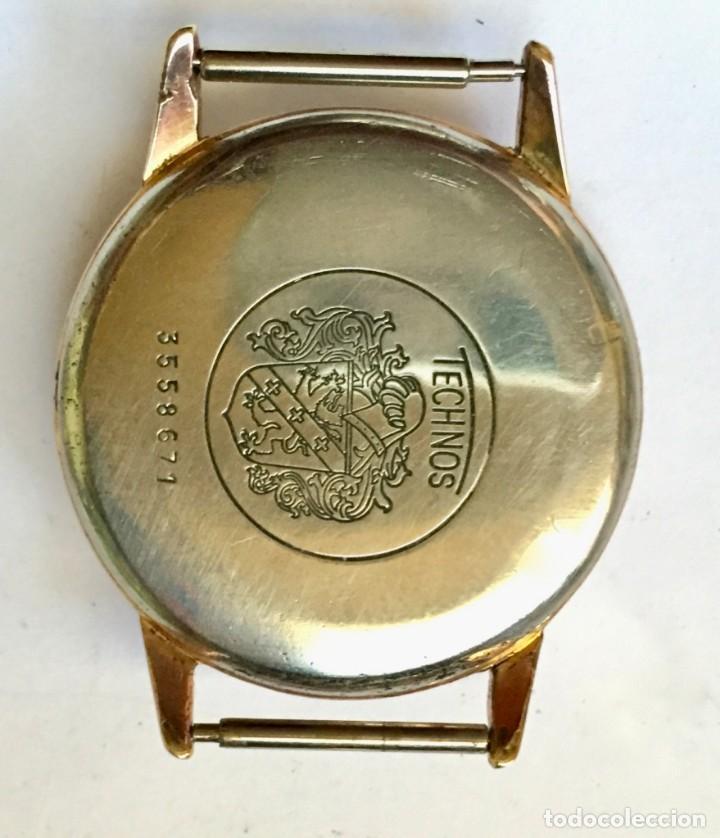 CAJA PLAQUÉ ORO FIRMADA TECHNOS . MEDIDAS : EXT. 33,7 M/M.Ø - INT. 29,3 M/M.Ø (Relojes - Recambios)
