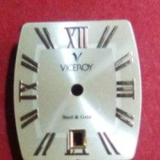 Recambios de relojes: ESFERA VICEROY COLOR CAVA - ( 2 FOTOS ). Lote 154048834