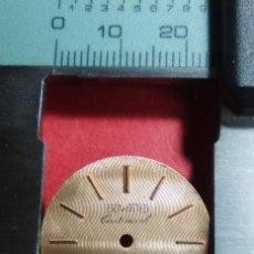 Recambios de relojes: ESFERA COLOR CAVA. Lote 154802962