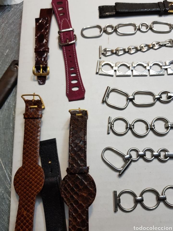 Recambios de relojes: Correas Reloj lote 39 metálicas, piel y Sintético - Foto 4 - 155280565