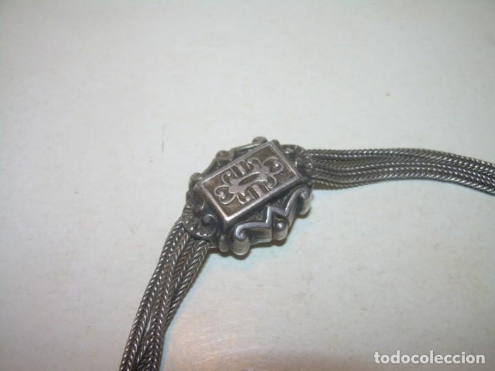Recambios de relojes: ANTIGUA Y BONITA LEONTINA ....SIGLO XIX...DE PLATA.CON CONTRASTE. - Foto 2 - 156196914