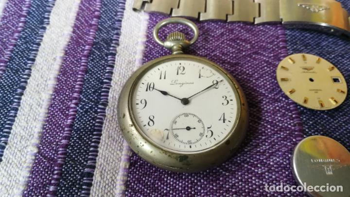 Recambios de relojes: LOTE LONGINES, 1 reloj, 2 esferas, 2 tapas con cuerda creo y armis o correa de caballero todo - Foto 4 - 157736442