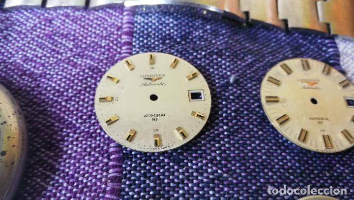 Recambios de relojes: LOTE LONGINES, 1 reloj, 2 esferas, 2 tapas con cuerda creo y armis o correa de caballero todo - Foto 5 - 157736442