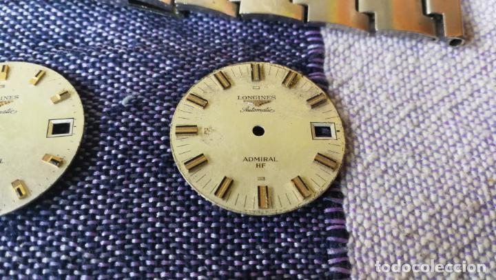 Recambios de relojes: LOTE LONGINES, 1 reloj, 2 esferas, 2 tapas con cuerda creo y armis o correa de caballero todo - Foto 6 - 157736442