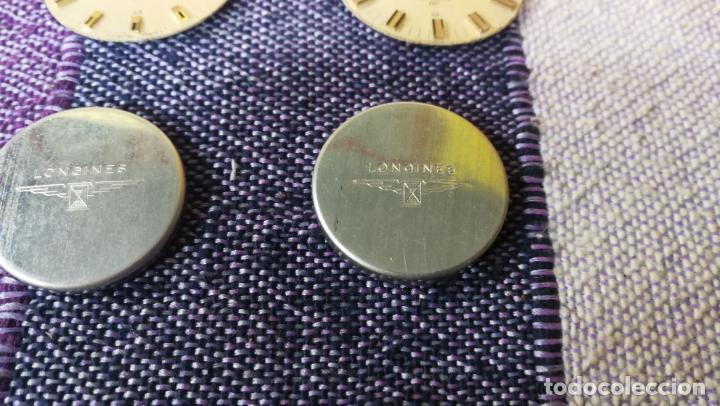 Recambios de relojes: LOTE LONGINES, 1 reloj, 2 esferas, 2 tapas con cuerda creo y armis o correa de caballero todo - Foto 7 - 157736442
