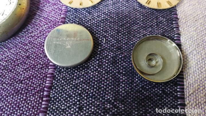 Recambios de relojes: LOTE LONGINES, 1 reloj, 2 esferas, 2 tapas con cuerda creo y armis o correa de caballero todo - Foto 8 - 157736442