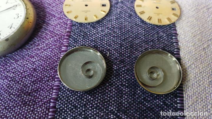 Recambios de relojes: LOTE LONGINES, 1 reloj, 2 esferas, 2 tapas con cuerda creo y armis o correa de caballero todo - Foto 9 - 157736442