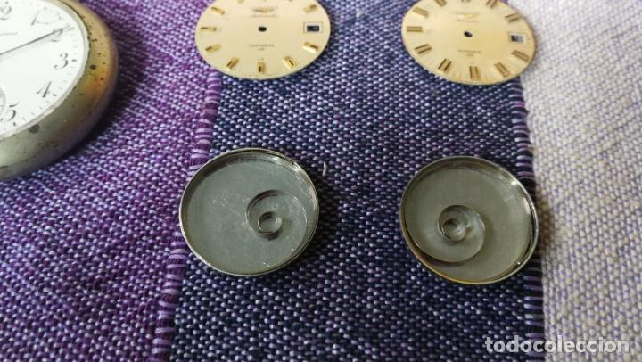 Recambios de relojes: LOTE LONGINES, 1 reloj, 2 esferas, 2 tapas con cuerda creo y armis o correa de caballero todo - Foto 11 - 157736442