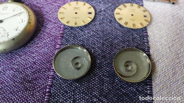 Recambios de relojes: LOTE LONGINES, 1 reloj, 2 esferas, 2 tapas con cuerda creo y armis o correa de caballero todo - Foto 12 - 157736442