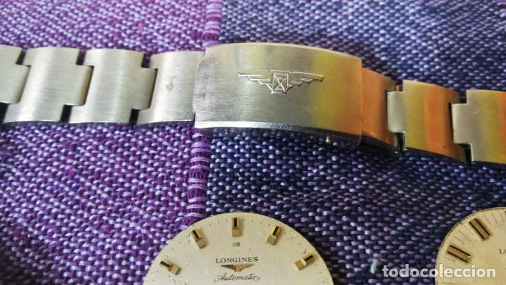 Recambios de relojes: LOTE LONGINES, 1 reloj, 2 esferas, 2 tapas con cuerda creo y armis o correa de caballero todo - Foto 15 - 157736442