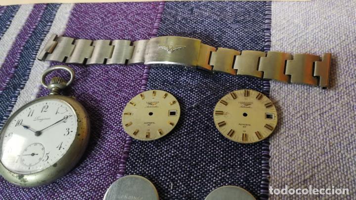 Recambios de relojes: LOTE LONGINES, 1 reloj, 2 esferas, 2 tapas con cuerda creo y armis o correa de caballero todo - Foto 16 - 157736442