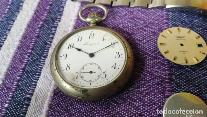 Recambios de relojes: LOTE LONGINES, 1 reloj, 2 esferas, 2 tapas con cuerda creo y armis o correa de caballero todo - Foto 17 - 157736442
