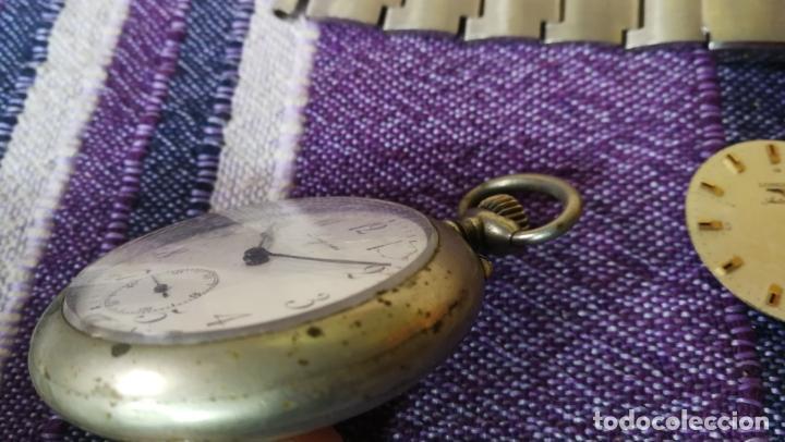 Recambios de relojes: LOTE LONGINES, 1 reloj, 2 esferas, 2 tapas con cuerda creo y armis o correa de caballero todo - Foto 18 - 157736442