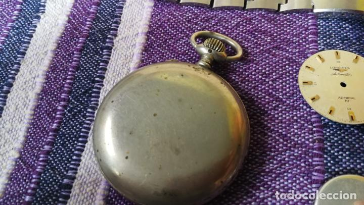 Recambios de relojes: LOTE LONGINES, 1 reloj, 2 esferas, 2 tapas con cuerda creo y armis o correa de caballero todo - Foto 19 - 157736442