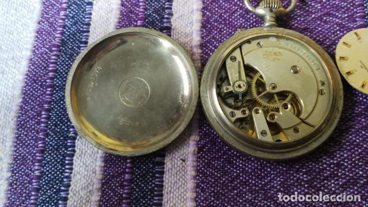 Recambios de relojes: LOTE LONGINES, 1 reloj, 2 esferas, 2 tapas con cuerda creo y armis o correa de caballero todo - Foto 20 - 157736442