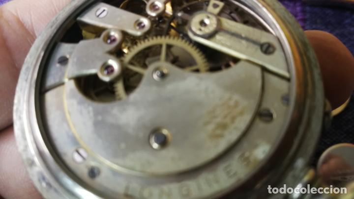 Recambios de relojes: LOTE LONGINES, 1 reloj, 2 esferas, 2 tapas con cuerda creo y armis o correa de caballero todo - Foto 22 - 157736442