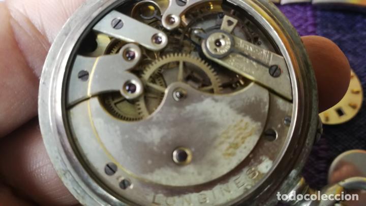 Recambios de relojes: LOTE LONGINES, 1 reloj, 2 esferas, 2 tapas con cuerda creo y armis o correa de caballero todo - Foto 23 - 157736442