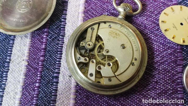 Recambios de relojes: LOTE LONGINES, 1 reloj, 2 esferas, 2 tapas con cuerda creo y armis o correa de caballero todo - Foto 26 - 157736442