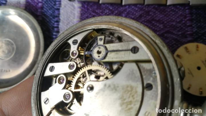 Recambios de relojes: LOTE LONGINES, 1 reloj, 2 esferas, 2 tapas con cuerda creo y armis o correa de caballero todo - Foto 27 - 157736442