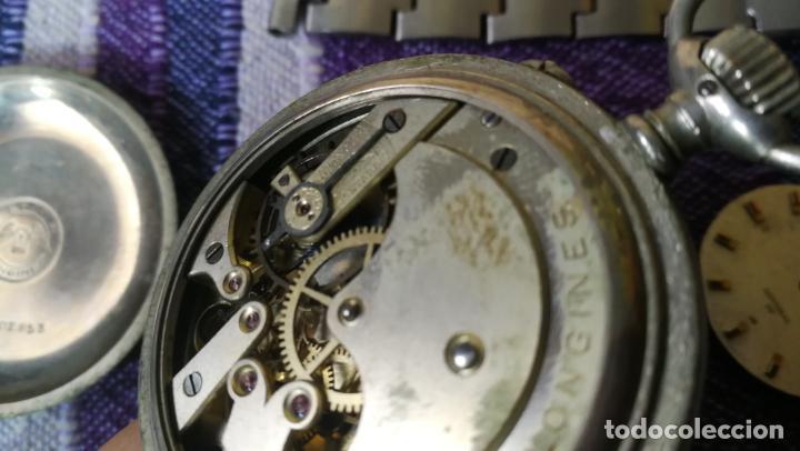 Recambios de relojes: LOTE LONGINES, 1 reloj, 2 esferas, 2 tapas con cuerda creo y armis o correa de caballero todo - Foto 28 - 157736442