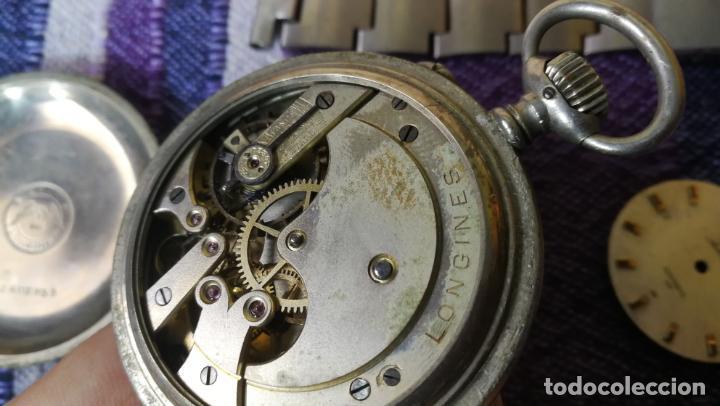 Recambios de relojes: LOTE LONGINES, 1 reloj, 2 esferas, 2 tapas con cuerda creo y armis o correa de caballero todo - Foto 29 - 157736442
