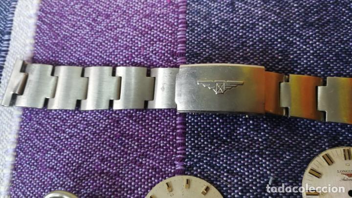 Recambios de relojes: LOTE LONGINES, 1 reloj, 2 esferas, 2 tapas con cuerda creo y armis o correa de caballero todo - Foto 30 - 157736442