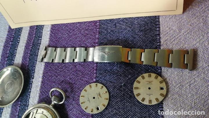 Recambios de relojes: LOTE LONGINES, 1 reloj, 2 esferas, 2 tapas con cuerda creo y armis o correa de caballero todo - Foto 31 - 157736442