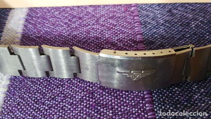 Recambios de relojes: LOTE LONGINES, 1 reloj, 2 esferas, 2 tapas con cuerda creo y armis o correa de caballero todo - Foto 34 - 157736442